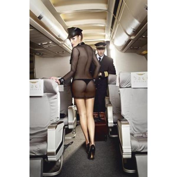 BL1217-D Игровой костюм КОРОЛЕВА НЕБА: мини-платье,значок и фуражка D (48-54)