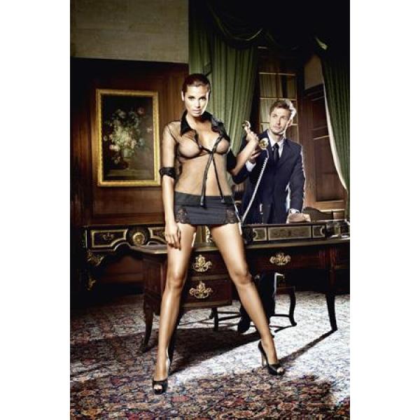 BL1246-D Игровой костюм МЕЧТА БОССА: блуза и мини-юбка D (48-54)