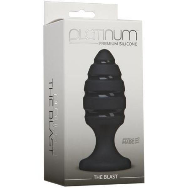 DJ0103-32BX Анальная пробка Platinum Premium Silicone - The Blast - Black черная