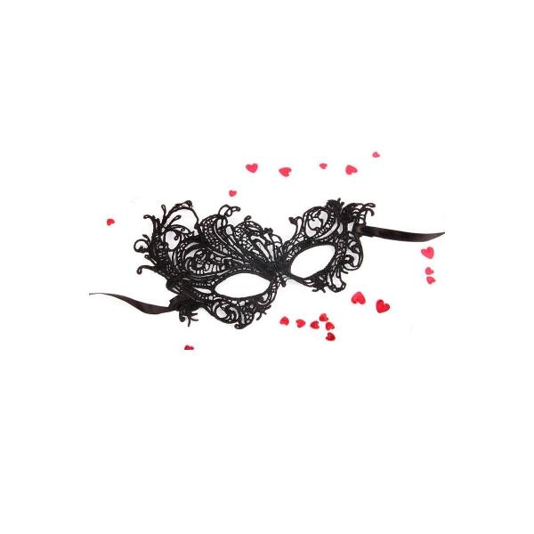 """МАСКА АЖУРНАЯ """"МАРГО"""" цвет чёрный, текстиль арт. EE-20352"""
