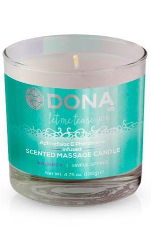 "JO40558 Массажная свеча с феромонами и афродизиаками ""Шалость"" DONA Scented Massage Candle Naughty Aroma: Si"