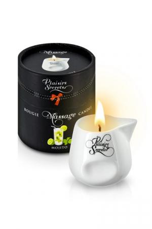 MASSAGE CANDLE MOJITO 80ML Свеча с массажным маслом аромат Мохито 80 мл