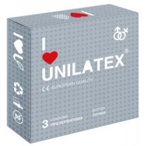 ПРЕЗЕРВАТИВЫ UNILATEX DOTTED 3 ШТ 3017UN