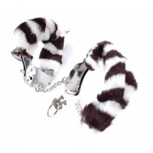 Меховые наручники-металл зебра Fetish Fantasy Series Original Furry Cuffs Zebra