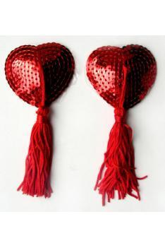 ПЭСТИСЫ цвет красный, (текстиль) арт. MLF-90004-3